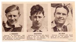 Orig Knipsel Coupure Magazine Tijdschrift - Voetbal - Spelers Racing Club Mechelen - Diddens, Nouwens & De Rom - 1931 - Unclassified