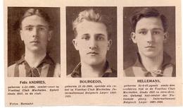 Orig Knipsel Coupure Magazine Tijdschrift - Voetbal - Spelers Mechelen - Andries, Bourgeois, Hellemans - 1931 - Unclassified
