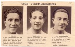 Orig Knipsel Coupure Magazine Tijdschrift - Voetbal - Spelers Beerschot - Braine, Meljado, Van Averbeke - 1931 - Unclassified