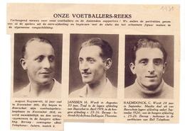 Orig Knipsel Coupure Magazine Tijdschrift - Voetbal - Spelers Beerschot - Ruyssevelt , Janssen, Raemdonck - 1931 - Unclassified