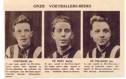 Orig Knipsel Coupure Magazine Tijdschrift - Voetbal - Spelers Berchem Sport - Cootmans, De Hoey, De Pellecijn  - 1931 - Unclassified