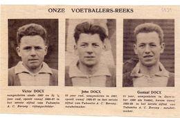 Orig Knipsel Coupure Magazine Tijdschrift - Voetbal - Spelers Tubantia - Victor , John & Gustaaf Docx  - 1931 - Unclassified