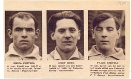 Orig Knipsel Coupure Magazine Tijdschrift - Voetbal - Spelers Tubantia - Peeters, Mees, Bertels  - 1931 - Unclassified