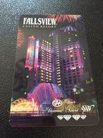 Hotelkarte Room Key Keycard Clef De Hotel Tarjeta Hotel  FALLSVIEW CASINO RESORT NIAGARA FALLS CANADA - Télécartes
