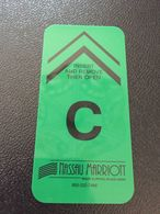 Hotelkarte Room Key Keycard Clef De Hotel Tarjeta Hotel  MARRIOTT NASSAU  RESORT PALCE CASINO - Télécartes