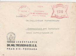 Bohême Et Moravie EMA Prag Sur Lettre 1942 - Bohemia Y Moravia