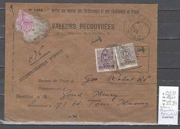 Maroc - Lettre Valeurs Recouvrées - 1930 - D'Azrou à Rabat - Taxe 60 Centimes ( Yvert 29 Et 32  ) - Marocco (1891-1956)