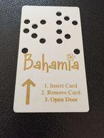 Hotelkarte Room Key Keycard Clef De Hotel Tarjeta Hotel  BAHAMIA CASINO  BAHAMAS - Télécartes