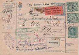 Autriche Bulletin D'expédition Wiesenthal Pour La Suisse 1919 - 1918-1945 1ra República