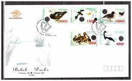 Indonesia 1998 FDC Birds Ducks - Indonesia