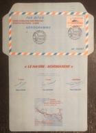 France - Aérogramme - Course Aéronautique Paris Pekin - Exposition Philatélique - Le Havre - 1987 - Posta Aerea