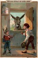 CHROMO LIEBIG S216 Ed. Fr Scenes D'enfants L'âne Donkey - Liebig