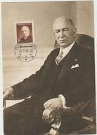 Carte-Maximum TCHECOSLOVAQUIE N°Yvert 457 (Président BENES) Obl Sp 1948 - FDC