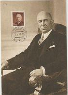 Carte-Maximum TCHECOSLOVAQUIE N°Yvert 457 (Président BENES) Obl Sp 1947 - FDC