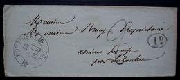 Pontoise 1839, Lettre Sans Correspondance, Cachet Ovale Décime Rural - 1801-1848: Précurseurs XIX