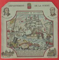 Protége Cahier Ancien Fin XIXéme; Dep De La Somme(Bombardement De Fou-tchéou  );Parmentier ; Courbet ;Amien ; Abbeville - Book Covers
