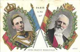 PARIS 30Mai 1905 FETES FRANCO ESPAGNOLES  RV - Koninklijke Families