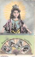 Nouvel An - N°66715 - 1906 - Jeune Fille Avec Un éventail - New Year