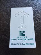 Hotelkarte Room Key Keycard Clef De Hotel Tarjeta Hotel  NEW CENTURY HOTEL MACAU - Tarjetas Telefónicas