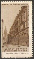 France - Free Schools Poster Stamp - Commemorative Labels