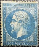N°22. Variété (Voir Point Devant Le 20, Tâches Blanches Dans L'écusson). Oblitéré Losange G.C. - 1862 Napoléon III.