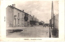 FR54 PIENNES - Grande Rue Et Cinéma - Animée -belle - Sonstige Gemeinden