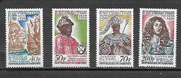 TIMBRE NEUF DU DAHOMEY DE 1970 N° MICHEL 422/25 - Benin – Dahomey (1960-...)