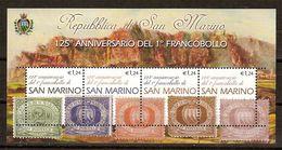 """(Fb).San Marino.2002.""""125° Primo Francobollo"""".Foglietto Nuovo,integro (102-20) - Blocchi & Foglietti"""
