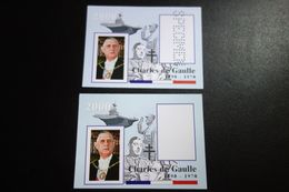 2 Blocs Du GENERAL ** MNH - De Gaulle (General)