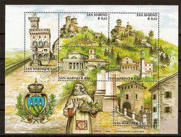"""(Fb).San Marino.2002.""""Turismo"""".Foglietto Nuovo,integro (104-20) - Blocchi & Foglietti"""