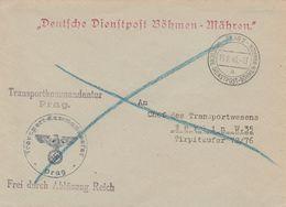 Bohême Et Moravie Lettre En Franchise Militaire Prag 1940 - Bohemia Y Moravia