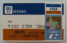 USA - Credit Card - VISA - NBD Banks - AAA Reverse - Exp 01/87 - Used - R - Carte Di Credito (scadenza Min. 10 Anni)