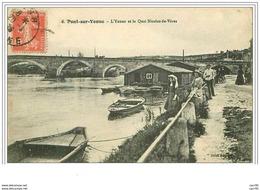 89.PONT SUR YONNE.L'YONNE ET LE QUAI NICOLAS DE VERES - Pont Sur Yonne