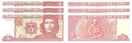 CUBA 3 X 3 Pesos E. Che Guevara P 127 2004 UNC - Cuba