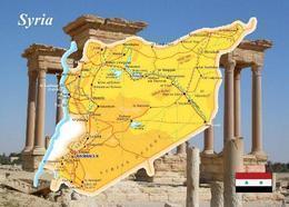 Syria Country Map New Postcard Syrien Landkarte AK - Syria