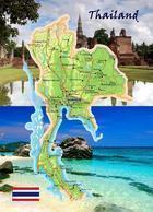Thailand Country Map New Postcard Landkarte AK - Thailand