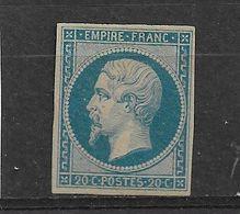 FRANCE   PRESIDENCE  N° 14B NEUF AVEC ADHERENCE - 1853-1860 Napoléon III