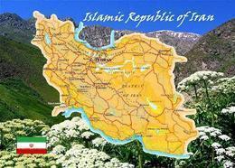 Iran Country Map New Postcard Landkarte AK - Iran
