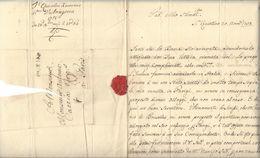 XIMENES D'ARAGONA ( Famille Naples - Florence )  2 Lettres 1758  - Saint - Quentin ( Marque Linéaire ) - Bruxelles - Autographs