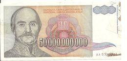 YOUGOSLAVIE 50 MILLIARD DINARA 1993 VF P 136 - Yugoslavia