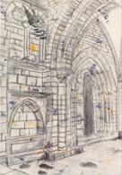 TULLE Detail Du Voutement Du Porche Salut De Notre Patrimoine Cathedrale 15(scan Recto-verso) MA1671 - Tulle