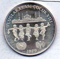 TURKEY, 500 Lira, Silver, Year 1979, KM #931 - Turchia