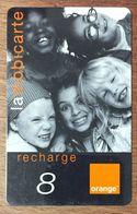 RÉUNION ORANGE ENFANTS RECHARGE GSM 8 EURO EXP 12/105 PRÉPAYÉE CARTE À CODE PHONECARD CARD PREPAID - Réunion