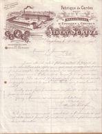 NORD - ROUGEBARRES - FABRIQUE DE GARDES , MANUFACTURE EPINGLES A CHEVEUX - ALBERT SCRIVE - LETTRE - 1905 - 1900 – 1949