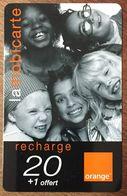 RÉUNION ORANGE ENFANTS RECHARGE GSM 20 EURO EXP 12/105 PRÉPAYÉE CARTE À CODE PHONECARD CARD PREPAID - Reunion