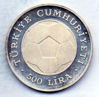 TURKEY, 500 Lira, Silver, Year 1982, KM #953 - Turchia