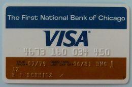 USA - Credit Card - VISA - First National Bank Of Chicago - Exp 06/81 - Used - Carte Di Credito (scadenza Min. 10 Anni)