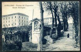 CV3212 AVELLINO (AV) Rampa Dei Cappuccini E Scuola Enologica, FP, Viaggiata 1925 Per Roma, Ottime  Condizioni - Avellino