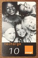 RÉUNION ORANGE ENFANTS RECHARGE GSM 10 EURO EXP 12/05 PRÉPAYÉE CARTE À CODE PHONECARD CARD PREPAID - Réunion