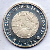 TURKEY, 20.000 Lira, Silver, Year 1990, KM #992 - Turchia